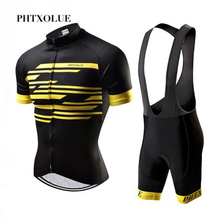 Phtxolue Summer Cycling Set Men Mountain Bike Clothing MTB Bicycle Wear Clothes Maillot Ropa Ciclismo Jersey Sets