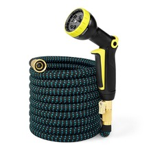 2019 New 25FT-50FT Garden Hose Expandable Magic Rubber Flexible Water Plastic Hoses Pipe Spray Gun Watering Tool