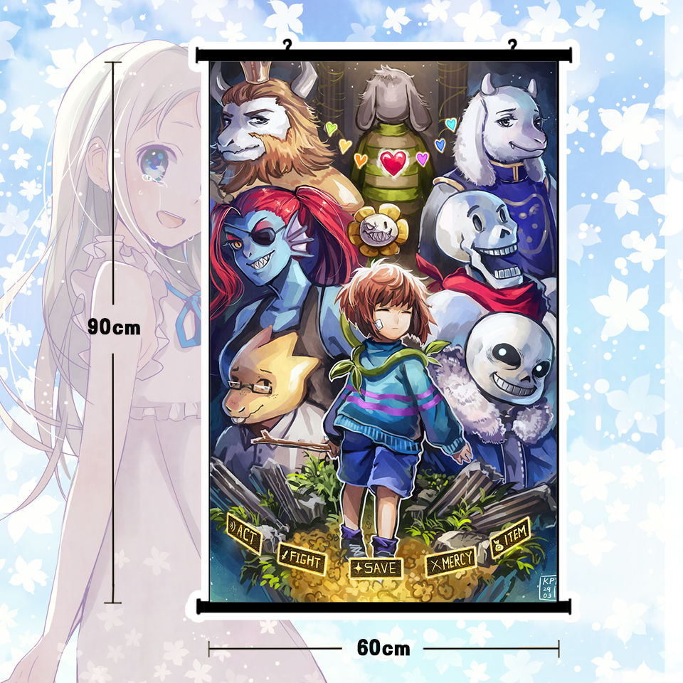 Spiel Undertale Sans Und Papyrus Skeleton Brother Poster Wall Scroll Wandbild 80x60 Cm In