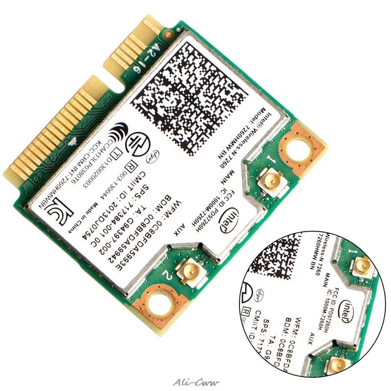 Intel Wireless N 7260HMW BN Half Mini PCIe PCI Express WLAN WIFI Card Modul|Network Cards| |  -