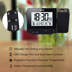 Image 2 - FanJu FJ3531 Projection Digital Temperature Humidity Clock Electronic LCD Thermometer Hygrometer Alarm Projector Weather Station