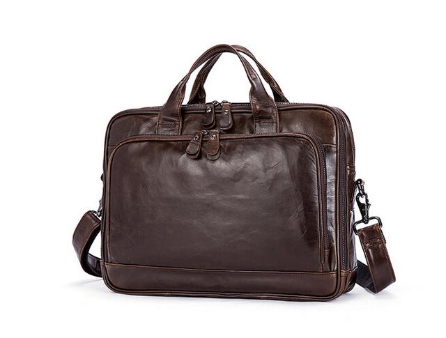The new 2017 men business briefcase multifunctional handbag leather men's bags