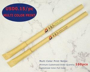 Image 4 - הרבה 50 יחידות Eco רזה נייר כדור עט, ידידותי לסביבה, הוגן לפרסם כדורי, מותאם אישית קידום החברה טקסט & לוגו מתנה