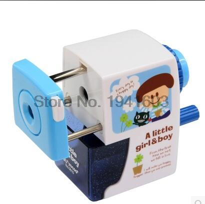 New gifts 0610 korean kids plastic sharpeners machine cutter for colored pencils deli brand office supplies stationery makeup new arrival deli sweet house children pencil sharpeners 0724 cute cartoon students mechanical pencils writing supplies blue