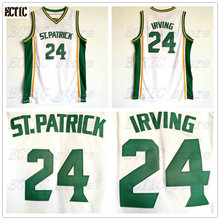 0dc93fdea 2018 ECTIC Kyrie Irving 24 St. Patrick High School White Basketball Jersey  Throwback