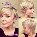 New Arrival Short Straight Hair Wigs 2 Color Mixed Honey blonde 613 and 27 Synthetic Hair Wigs Non Lace Wig Cosplay Short Wigs