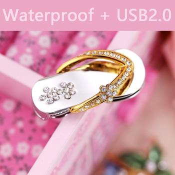Pendrive Mini Usb Flash Drive 1TB Crystal Shoes 64gb 8gb 16gb 32gb Pen Drives Flash Usb Memory Stick Key Jewelry Gift 2.0 2TB
