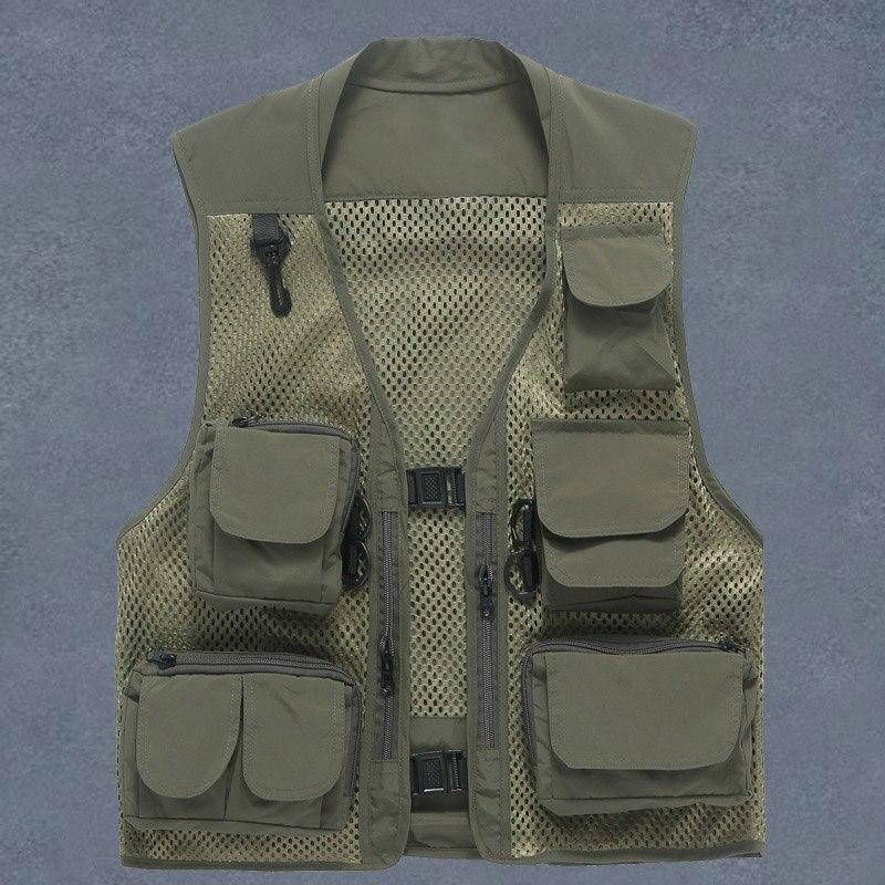 Nuovo di Marca di Modo Della Maglia Degli Uomini di Gilet Tattico Delle Forze Speciali SWAT Militare Direttore Pescatore Maglia Nera Della Maglia Rapida Asciugatura Vestiti