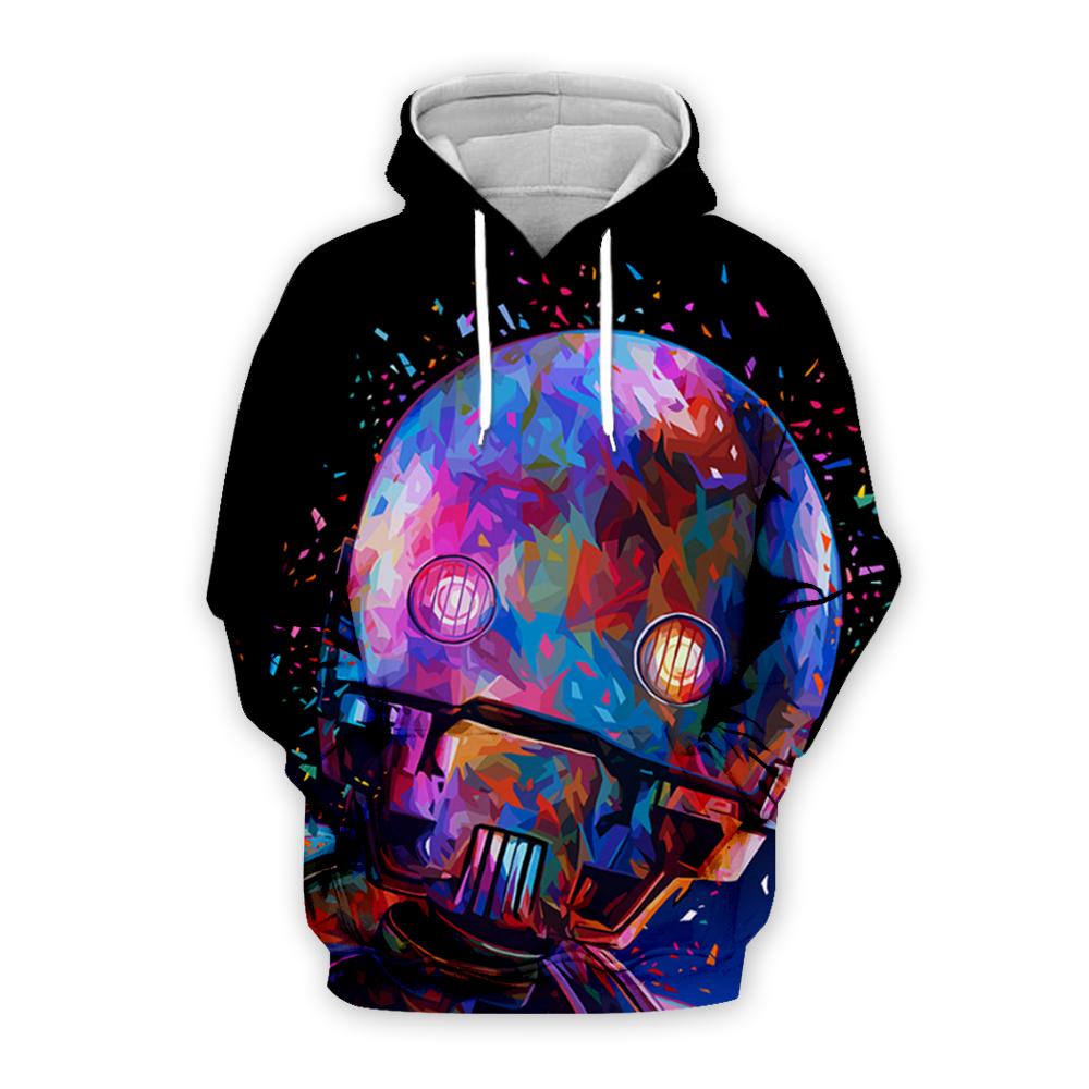 Men/Women 3D Print Hoodies Star Wars painting punk pullover Sweatshirts tee shirts Alessandro Pautasso Art portrait Graffiti