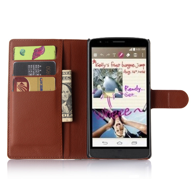 cheap for discount 96917 f95a7 G4Styus for LG G4 Styus Case G 4 Stylo LG4 NOTE LS770 Wallet Card Stent  Cases Lichee Pattern Flip Leather Protect Cover black-in Wallet Cases from  ...