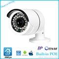 DC48V POE 1920x1080 P 2.0MP Водонепроницаемый Пуля IP Камера Наружного Видеонаблюдения ONVIF Ночного Видения P2P IP POE камера