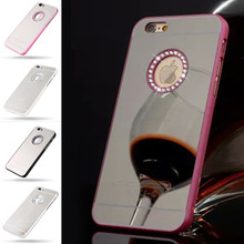 iPhone 5 5S SE Fashion Noble Luxury Inlaid Crystal Rhinestone Plated Mirror
