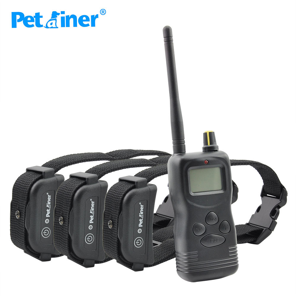 Petrainer 900B 3 Waterproof and rechargeable 1000m remote dog training collar shock for 3 dogs Newest