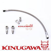 Kinugawa Turbo Oil Feed Line Kit for Garrett GT30R GT35R Ball Bearing on 4G63T EVO 4~9/ DSM/ VR-4 engine