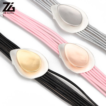 ZG High QualitySatatment Jewelry Charm Leather Bracelet for Women in 3 Colors