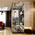 3d acrílico moderno padrão espelho adesivo de parede casa sala estar varanda tv fundo da parede paisagismo decorativo espelho