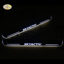SNCN LED door sill Led moving lights scuff plate welcome pedal for Mazda 3 2009-2016