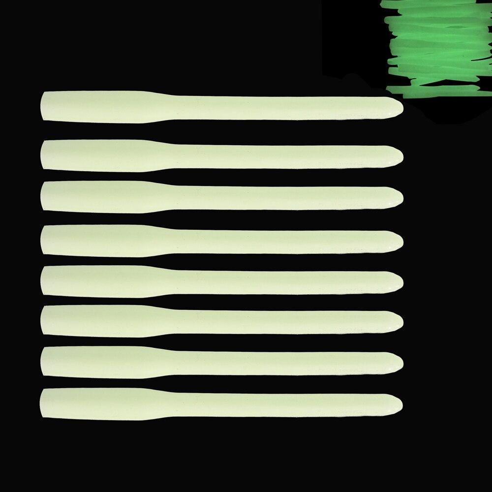 Shaddock Fishing 25pcs 7.8cm Soft Fishing Luminous Sleeve Silicone Tube Glow In Dark Rig Lure Tubes