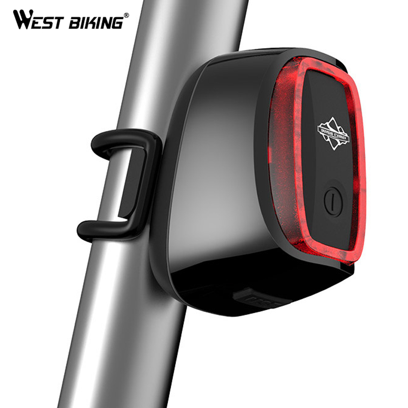 WEST BIKING Taillight Rechargeable 7 models Smart USB Waterproof CE RHOS FCC MSDS Certification Cycling Bike Bicycle Tail Light west biking taillight rechargeable 7 models smart usb waterproof ce rhos fcc msds certification cycling bike bicycle tail light
