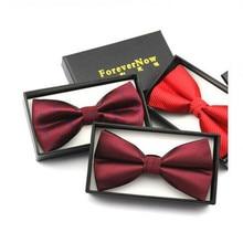 2016 Korean brand custom wine red black Men Women British suits the groom best man wedding marriage tie commercial tie grade hot