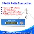 FMUSER FU-25A 25 Вт Fm-передатчик 0-25 Вт Моно/Стерео регулируемая Отличное качество звука + 1/4 волна GP антенна для FM радиостанции