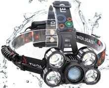 PANYUE High Power 3500 8000 10000 Lumens Zoomable Rechargeable Head Torch Spot Headlamp with USB Output Function