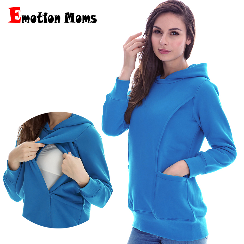 Emotion Moms Maternity clothes maternity Nursing Breastfeeding Tops nursing clothes for pregnant women Maternity Hoodies sweater все цены