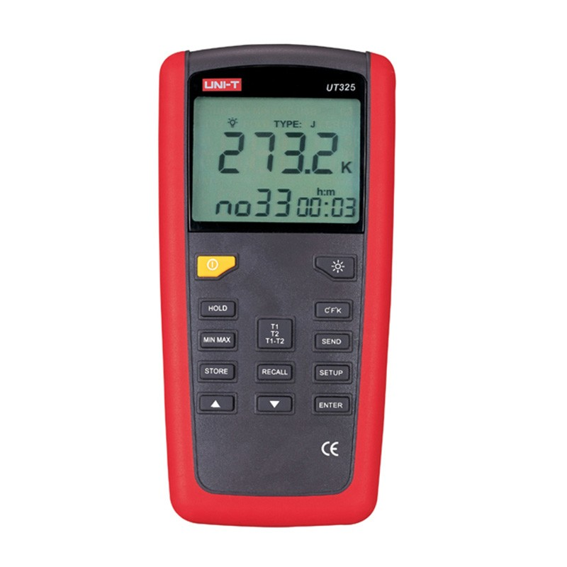 UT325 Digital Thermometer Temaperature Meter Tester T1-T2 Dual Input with High/Lower Alarm & Auto Calibration suhed high versatility with dual alarm thermostat ch702