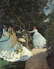 Impression Painting Claude Monet The Women In the Garden  For Home Wall Reproduction On Canvas Wholesale
