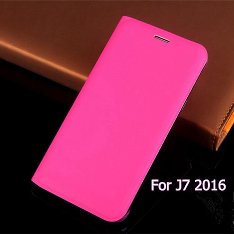 Funda de cuero delgada con tapa abatible para cartera con tarjetero y funda con funda para Samsung Galaxy J7 2016 J710 J710F J710H J710M