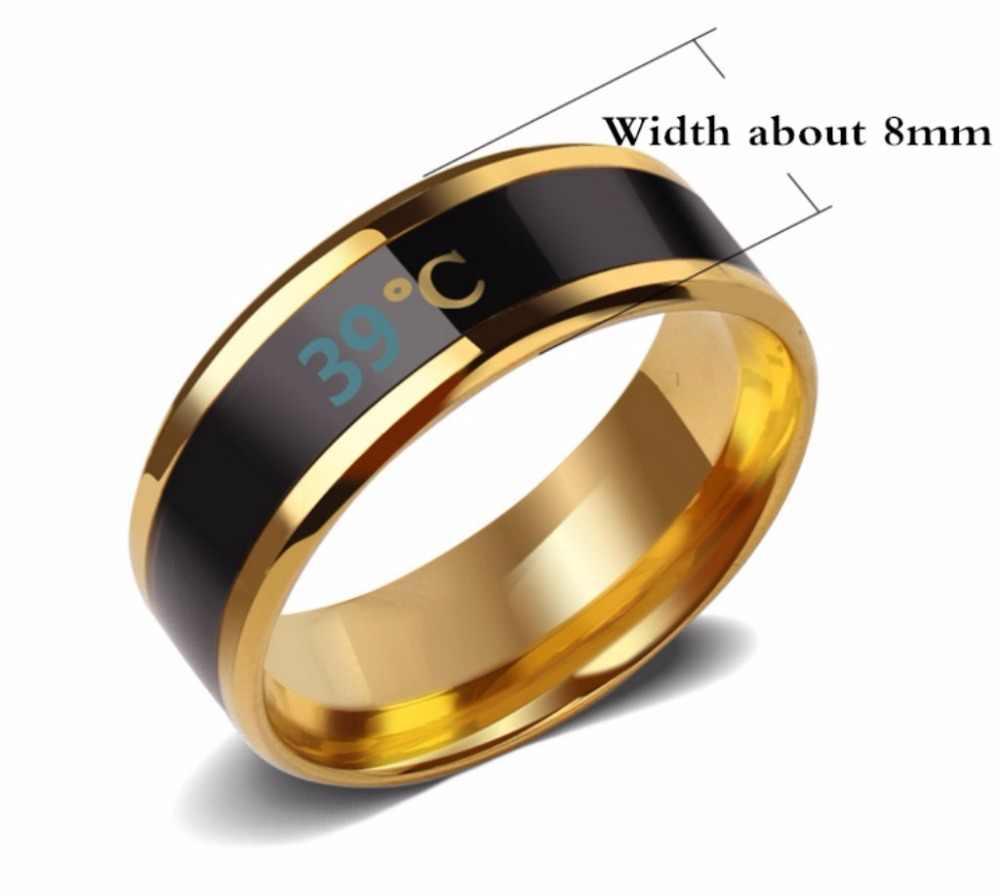 Temperatuur Ring Titanium Staal Mood Emotionele Gevoel Intelligente Temperatuur Gevoelige Ring Voor Liefhebbers Ring