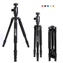 Zomei Z818 портативный компактный штатив монопод для камеры DSLRs Профессиональный качественный алюминиевый Треножники из сплава держатель Стенд Комплект