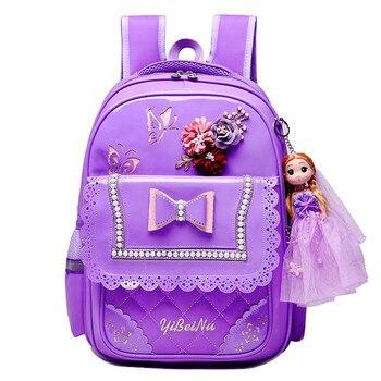 4bd663c88006 Детские школьные рюкзаки для девочек рюкзак детский ортопедический рюкзачок с  принцессой Детский водонепроницаемый рюкзак для начальной .