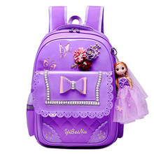 Детей школьные сумки для девочек рюкзак дети ортопедические Принцесса ранцы дети водонепроницаемый основной ранцы mochilas