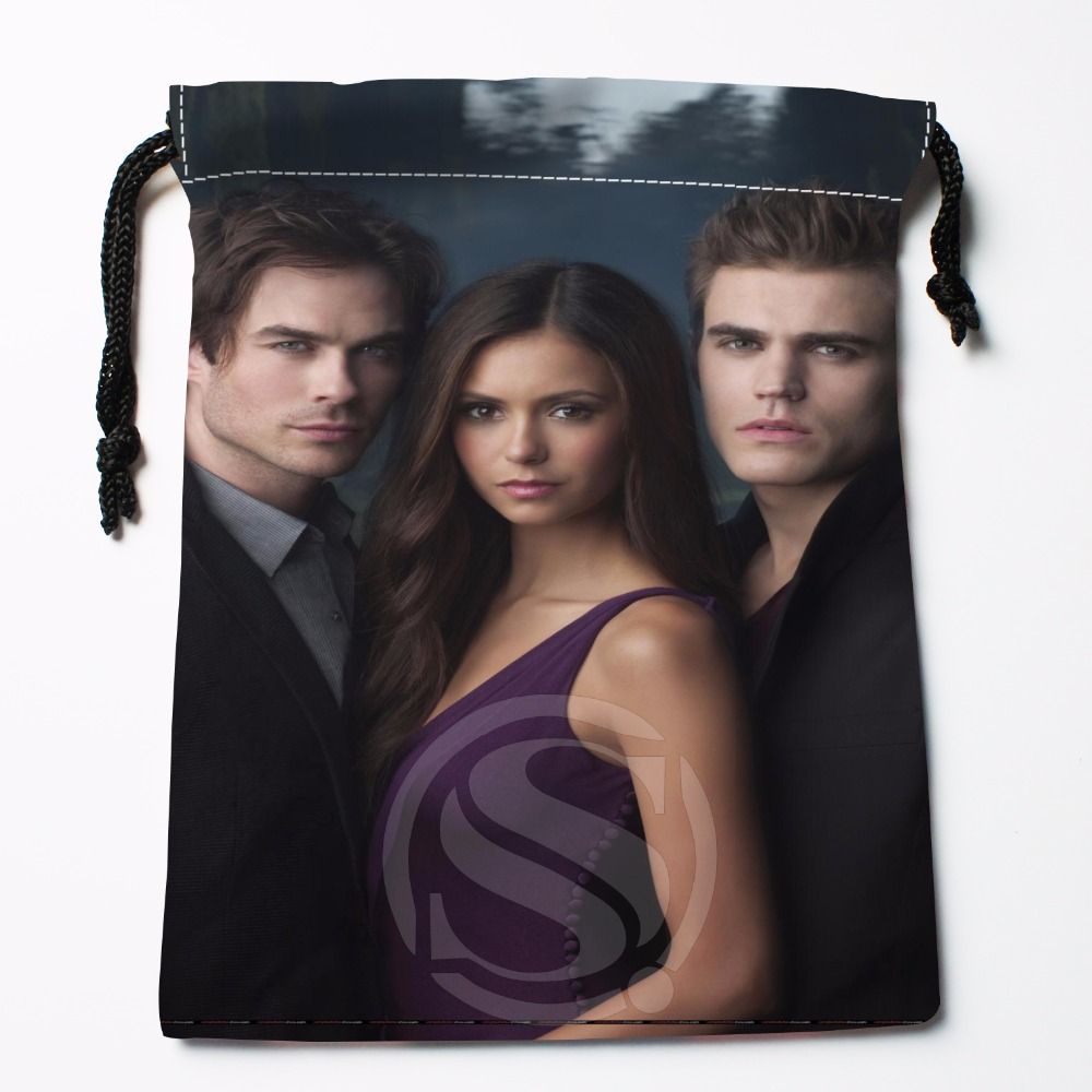 Fl-Q65 New The Vampire Diaries &3 Custom Logo Printed receive bag Bag Compression Type drawstring bags size 18X22cm 711-#F65