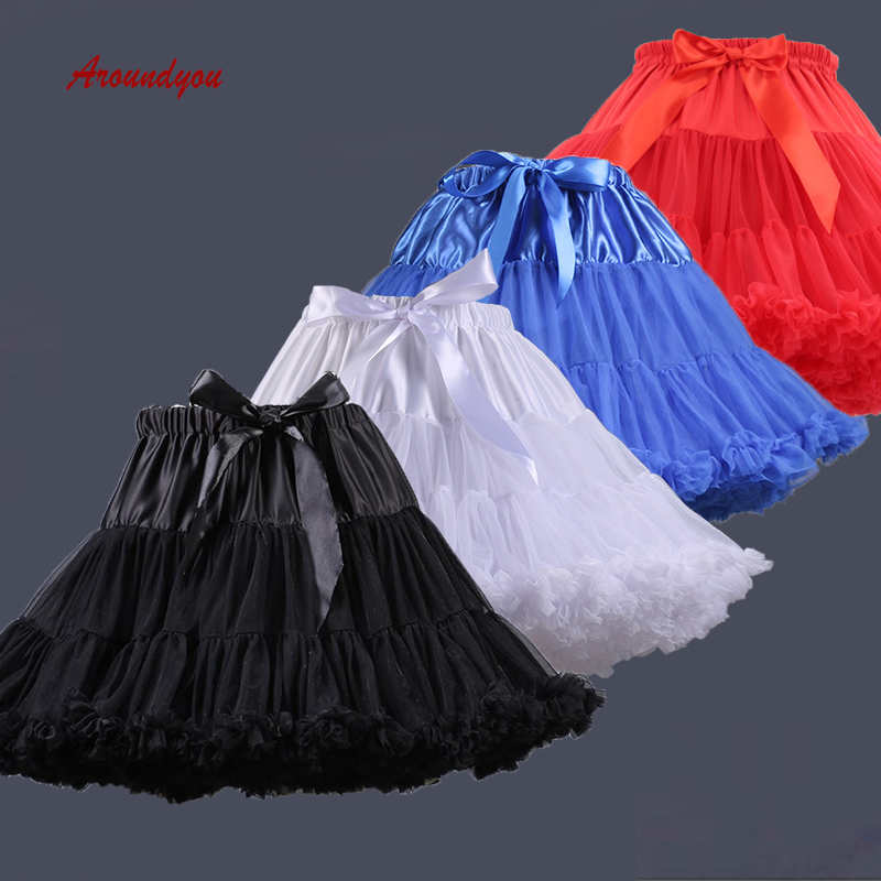 White Black Or Red Tutu Lolita Petticoats Short Woman Girl Underskirt Crinoline Petit Coat Peticoat Rockabilly Skirt Pettycoat