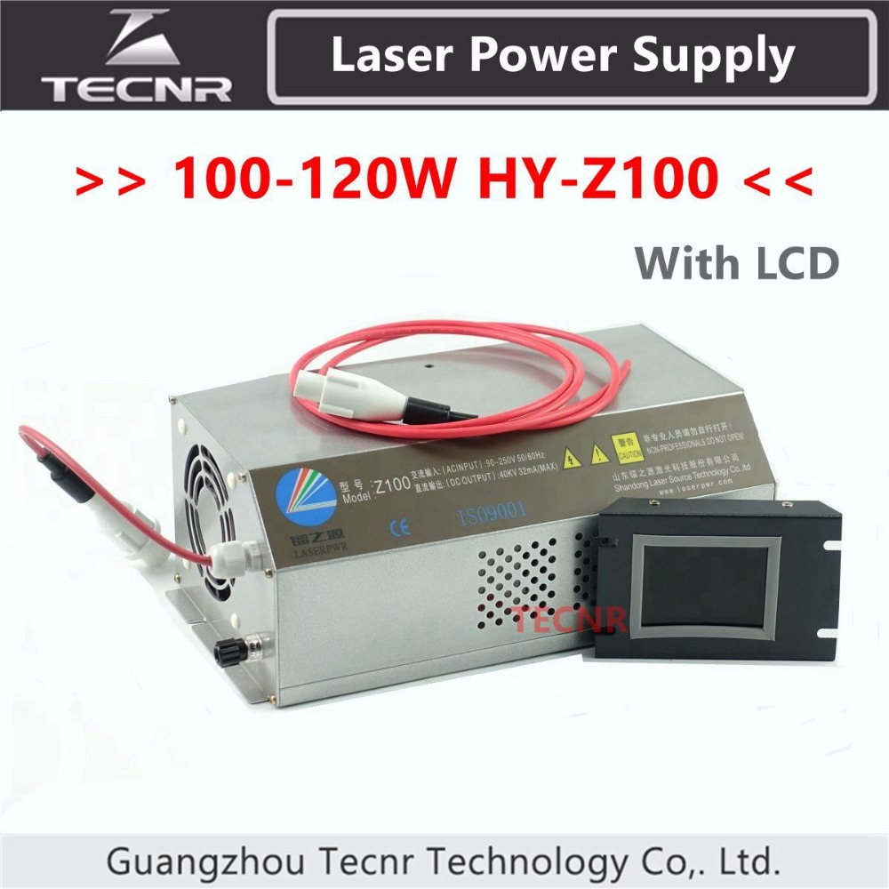 100W 120W CO2 Laser Power Supply Monitor AC90-250V For Laser Engraving Cutting Machine HY-Z100