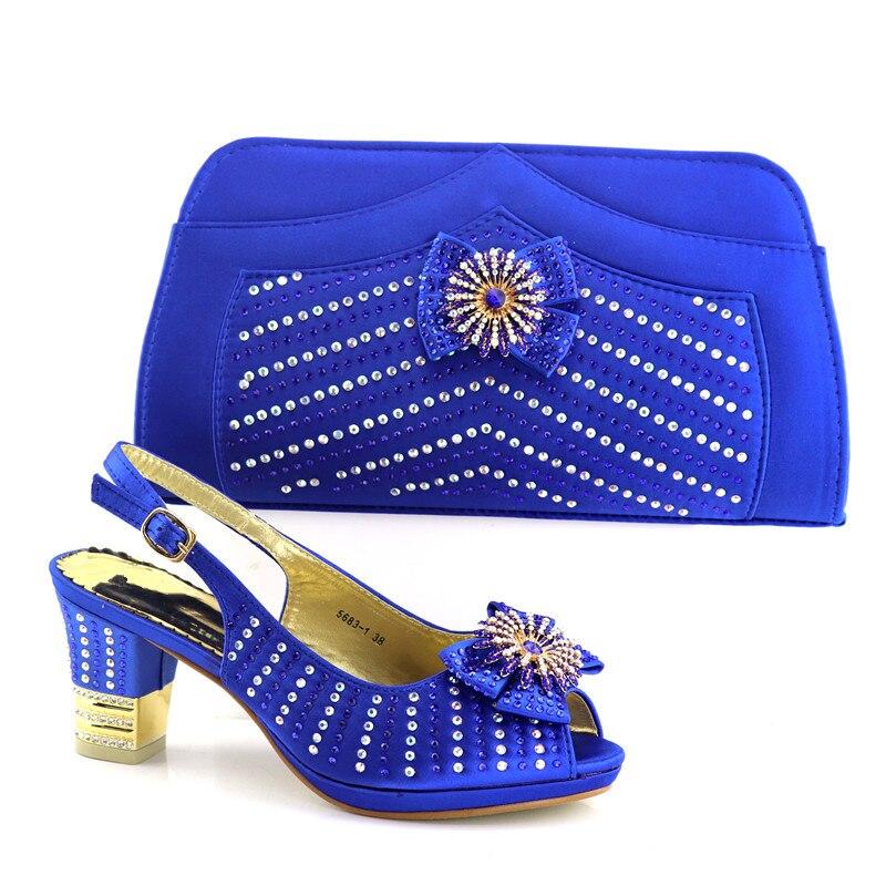 Date 2018 Chaussures Ensemble Sac 4 3 Vert De Mariage Africain Cristal Décoré Lac Nigérian Femmes Avec 2 Et Partie Pompes 1 wqxrqnXp0