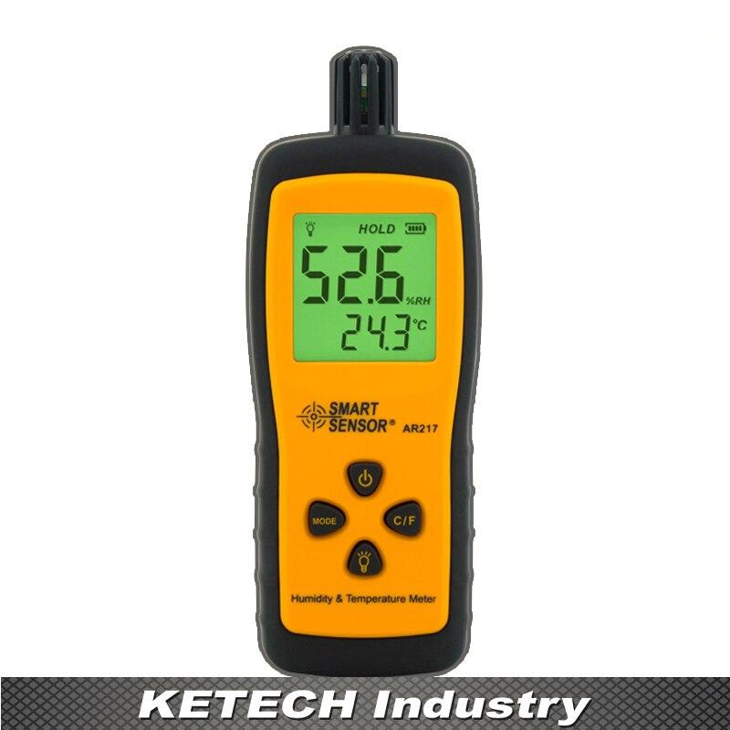 AR217 Handheld Hygrometer Digital Humidity Temperature Meter handheld digital grain temperature 8 20