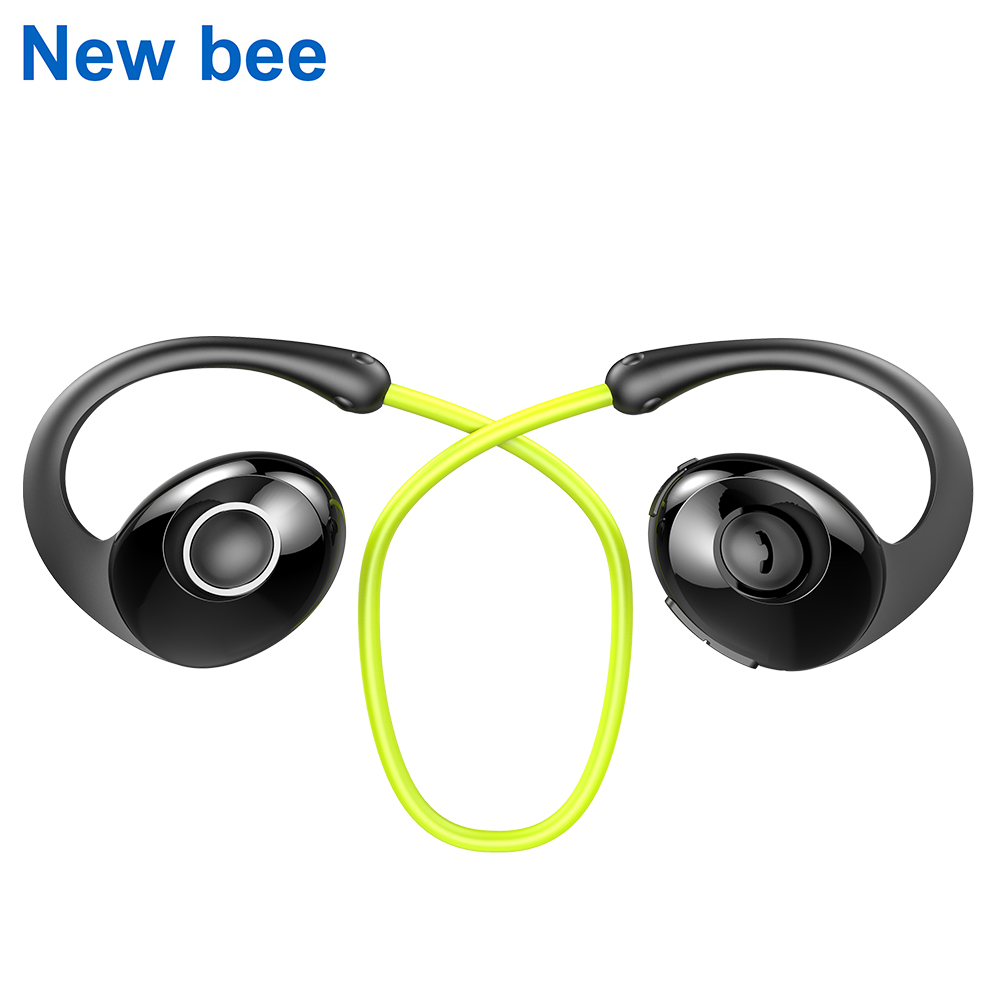 все цены на New Bee Snail Sport Bluetooth Earphone Wireless Headset Headphones HiFi Earbuds with Microphone APP Graphene speaker for Phone онлайн