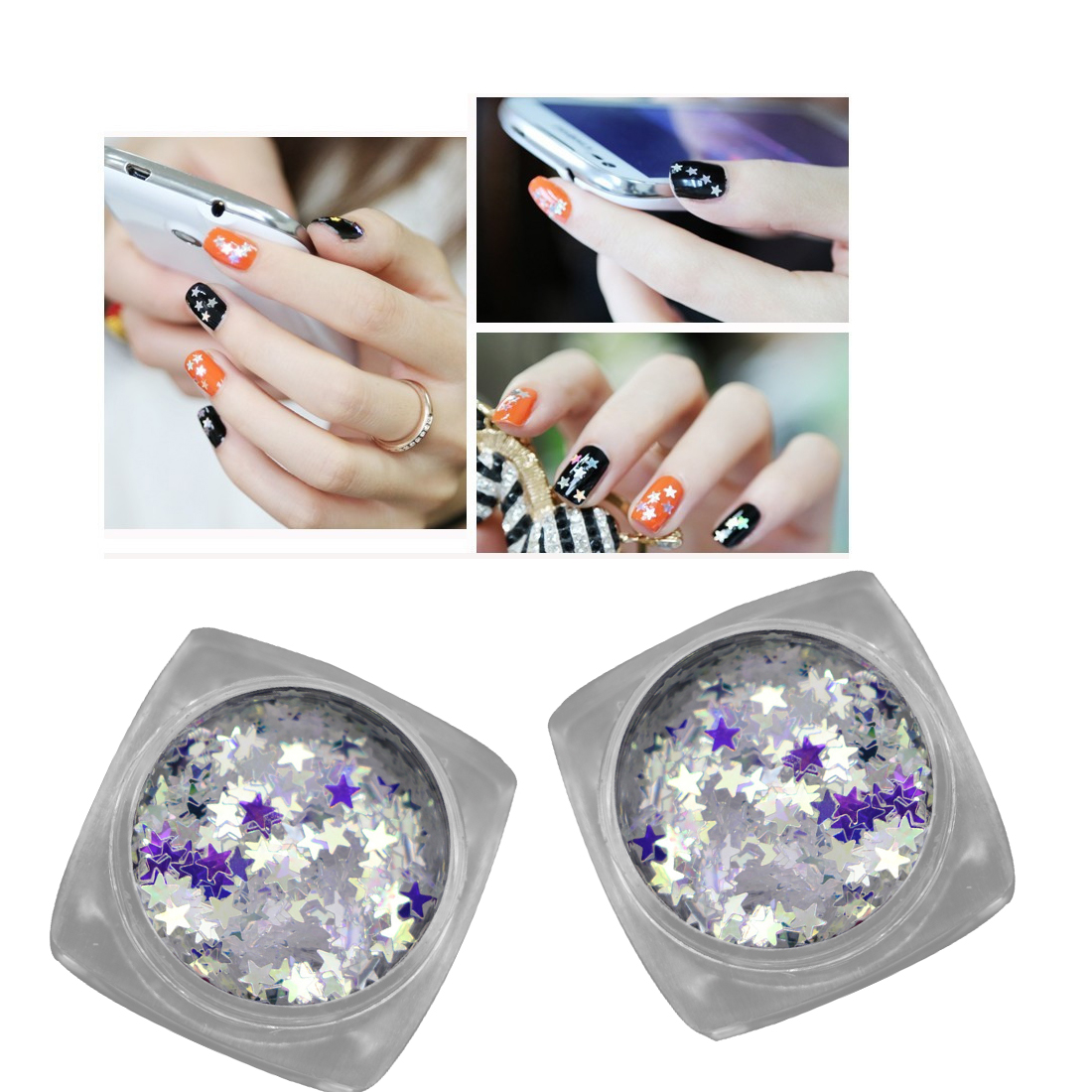 1 Flasche Nagel Glitter Laser Funkelnder Diamant Blau Shinning 3mm ...