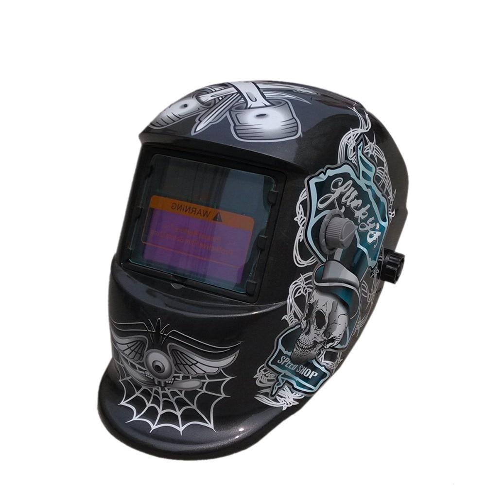 Welding Tools Stepless Adjust Solar Auto Darkening Welding Helmets/Face Mask/Electric Welding Mask/Welder Cap цена
