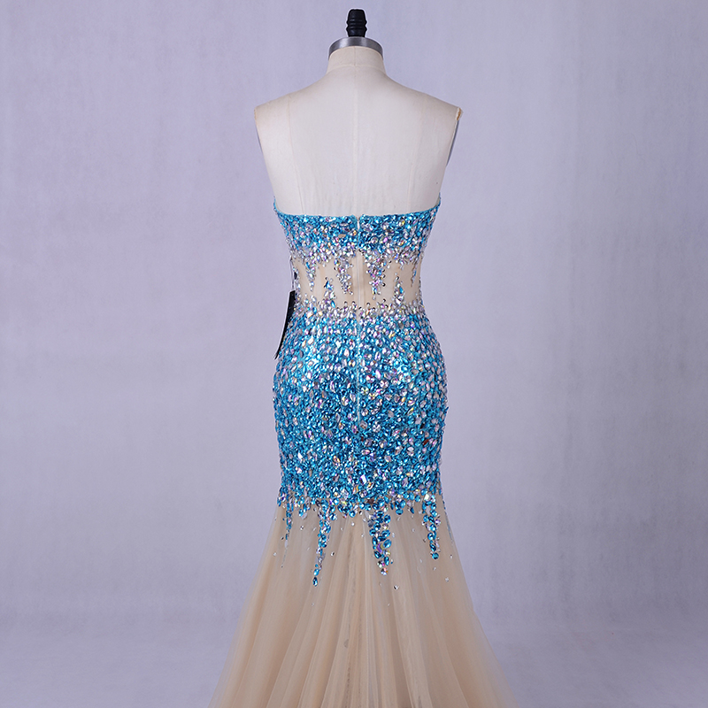 b182cee20f2 Aliexpress.com   Buy SoDigne Blue Crystals Mermaid Prom Dresses Formal  Gowns Sweetheart Long Dresses for weddings Evening Gowns for women from  Reliable long ...