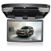 15.6″ HD 1080P video car MPV roof flip down monitor overhead dvd player with USB SD IR FM HDMI wide screen game multi language
