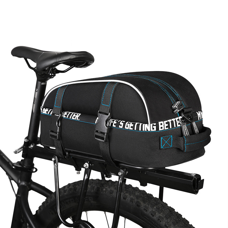 8L Rainproof Cycling Bag Bicycle Rear Rack Bags MTB Road Bike Shelf Utility Pocket Bicycle Back Seat Pannier Shoulder Bag BG0080