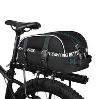 8L impermeable ciclismo bolsa trasera bicicleta bolsas para Rack MTB bicicleta de carretera de bolsillo bicicleta alforjas asiento bolso de hombro BG0080