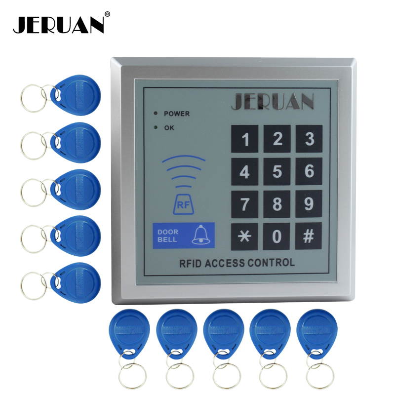 JERUAN High quality and high security Security RFID Proximity Entry Door Lock Access Control System 500 User +10 Keys security rfid proximity entry door lock access control system 500 user with 10 keys