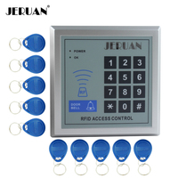 JERUAN di Alta qualità e ad alta sicurezza Sicurezza RFID Di Prossimità Entrata Serratura Sistema di Controllo Accessi 500 Utente + 10 Chiavi