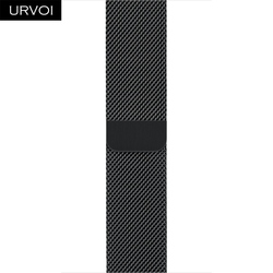 URVOI band for apple watch milanese loop Series 4 3 2 1 strap for iwatch stainless steel Magnetic adjustable buckle with adapter