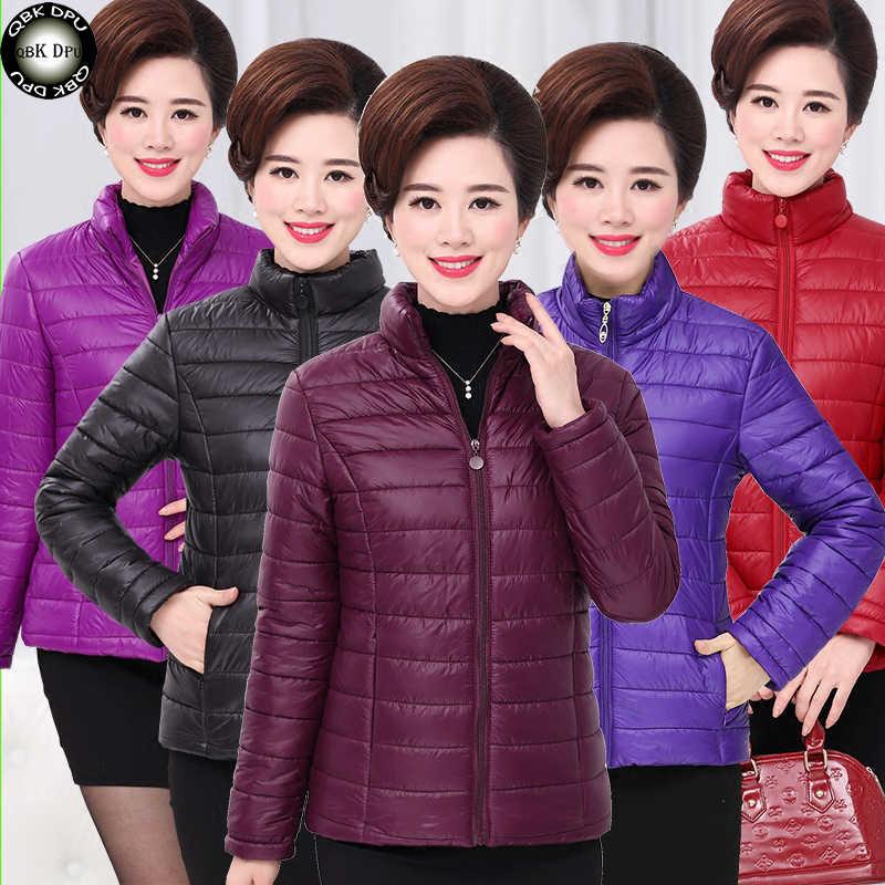 Manteau Femme Hiver Áo Khoác Mùa Đông Nữ Tuyết Mặc Thời Trang Làm Dày Parkas Femal 2018 Giày Siêu Nhẹ Áo Khoác Áo Ấm Áo Liền Quần